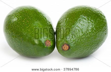 Couple Avocado Isolated On A White Background
