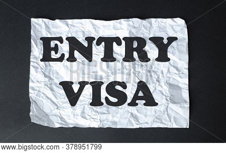 Black Calculator With Text Entry Visa On The White Background