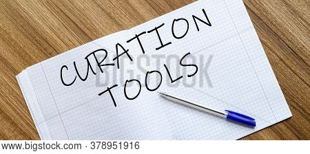 Blank Notebook And Pen. Isolated On White. Whith Text Curation Tools