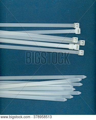 White Cable Tie (aka Hose Ties Or Zip Ties)