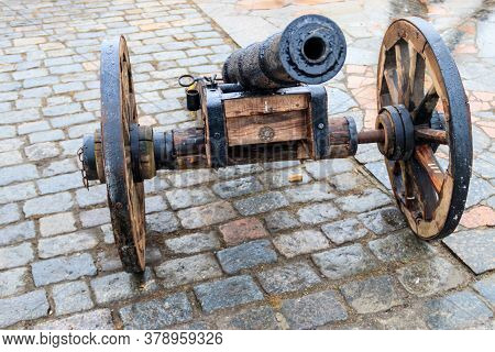 The Old Cannon In A City Park