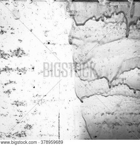 Zinc Metal Texture. Zinc Rough Black And White Paintings. Dirty Vintage Postcard. Background Zinc Me