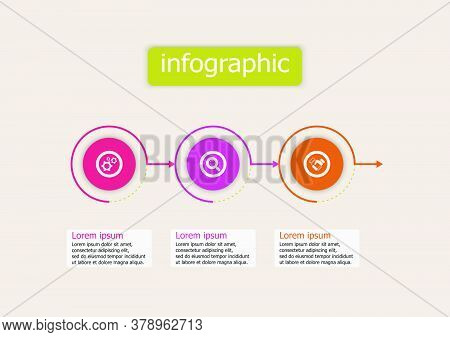 The Infographic Vector Design Template For Illustration. Timeline Infographics Design Vector Templat