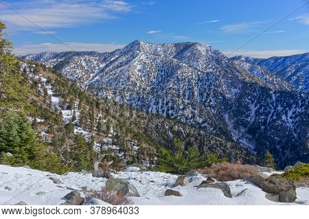 Views Of Mount Baldy (aka Mount San Antonio) , The Highest Point In San Gabriel Mountains Of San Ber