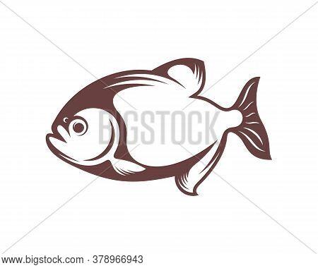 Piranha Fish Logo Design Vector. Icon Symbol. Template Illustration