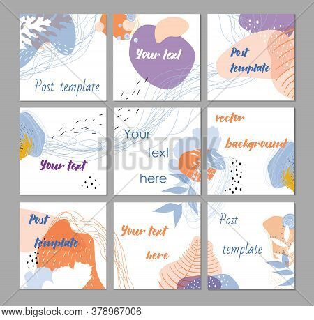 Big Editable Puzzle Template For Social Media Post Templates. Instagram Business, Fashion, Brand Ad