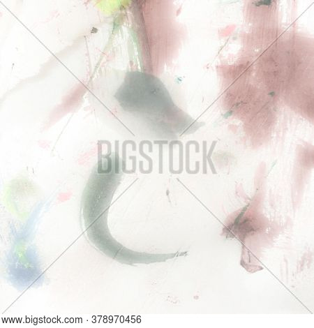 Watercolour Tie Dye Splash. Multicolor Cloudy Splash. Watercolour Tie Dye Pattern. Colored Watercolo