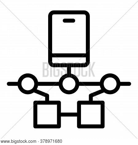 Smartphone Remote Access Icon. Outline Smartphone Remote Access Vector Icon For Web Design Isolated
