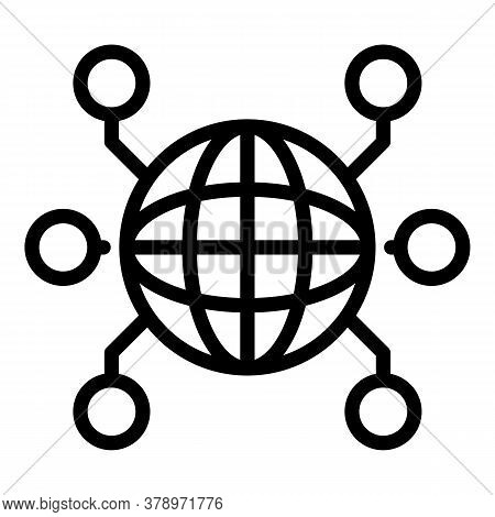 International Remote Access Icon. Outline International Remote Access Vector Icon For Web Design Iso