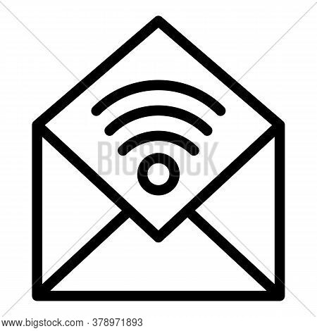 Mail Remote Access Icon. Outline Mail Remote Access Vector Icon For Web Design Isolated On White Bac