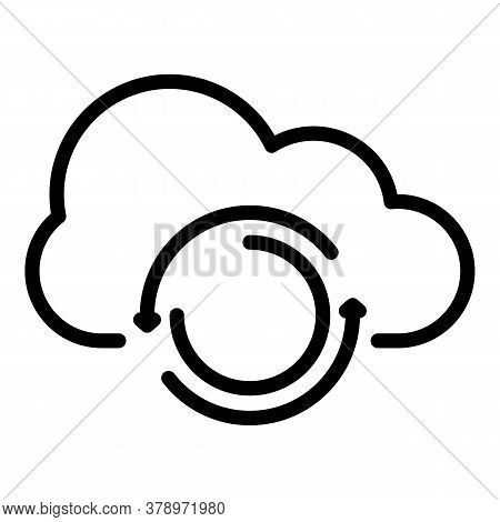 Cloud Data Remote Access Icon. Outline Cloud Data Remote Access Vector Icon For Web Design Isolated