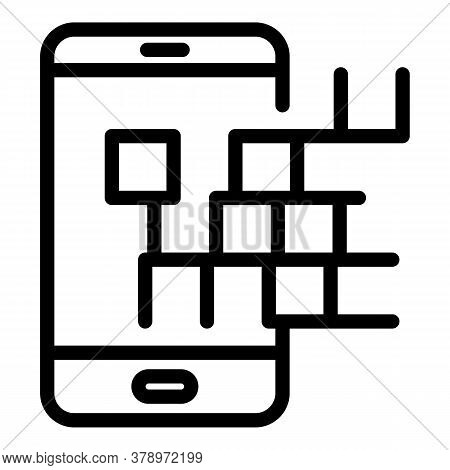 New Phone Operating System Icon. Outline New Phone Operating System Vector Icon For Web Design Isola