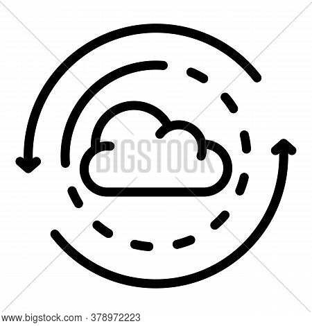 Cloud Operating System Icon. Outline Cloud Operating System Vector Icon For Web Design Isolated On W
