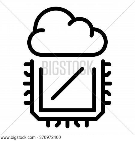 Operating System Cloud Processor Icon. Outline Operating System Cloud Processor Vector Icon For Web