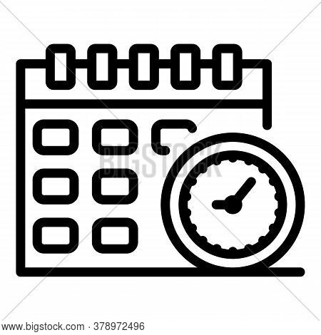 Operating System Update Calendar Icon. Outline Operating System Update Calendar Vector Icon For Web