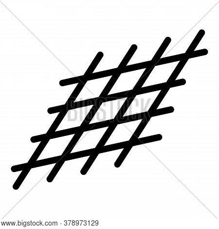 Metallurgy Metal Net Icon. Outline Metallurgy Metal Net Vector Icon For Web Design Isolated On White