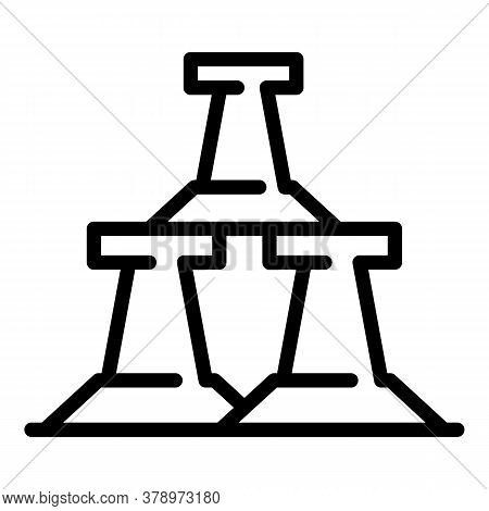 Metallurgy Road Block Icon. Outline Metallurgy Road Block Vector Icon For Web Design Isolated On Whi