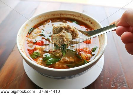 Spicy Soup Or Pork Soup, Thai Spicy Soup