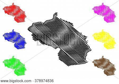 Berane Municipality (montenegro, Municipalities Of Montenegro) Map Vector Illustration, Scribble Ske