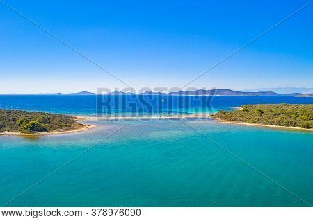 Amazing Islands With Natural Bridge In Turquoise Sea On The Island Of Dugi Otok In Croatia, Adriatic