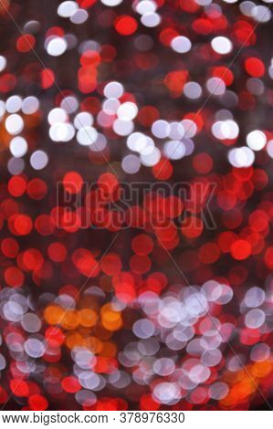 Abstract Blur Of Colourful Beautiful Bokeh Glitter Light, Christmas And New Year Festive Background
