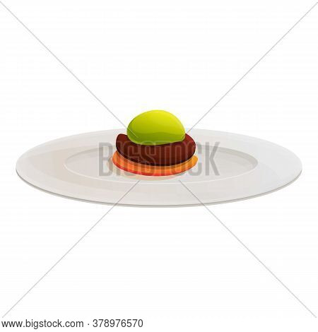 Organic Molecular Sweet Food Icon. Cartoon Of Organic Molecular Sweet Food Vector Icon For Web Desig
