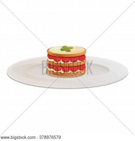 Birthday Cake Molecular Cuisine Icon. Cartoon Of Birthday Cake Molecular Cuisine Vector Icon For Web