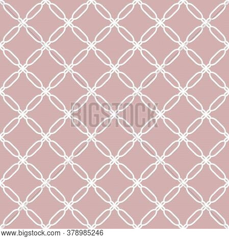 Seamless Purple And White Ornament In Arabian Style. Geometric Abstract Background. Pattern For Wall