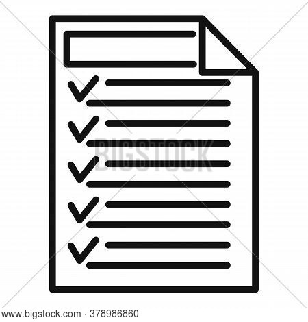 Check Document Online Loan Icon. Outline Check Document Online Loan Vector Icon For Web Design Isola