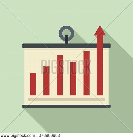 Banner Graph Innovation Icon. Flat Illustration Of Banner Graph Innovation Vector Icon For Web Desig