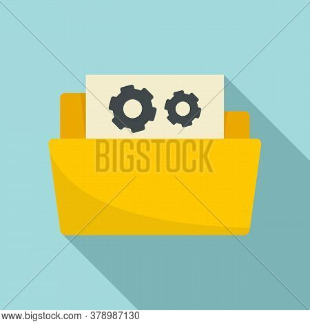 Secret Folder Innovation Icon. Flat Illustration Of Secret Folder Innovation Vector Icon For Web Des