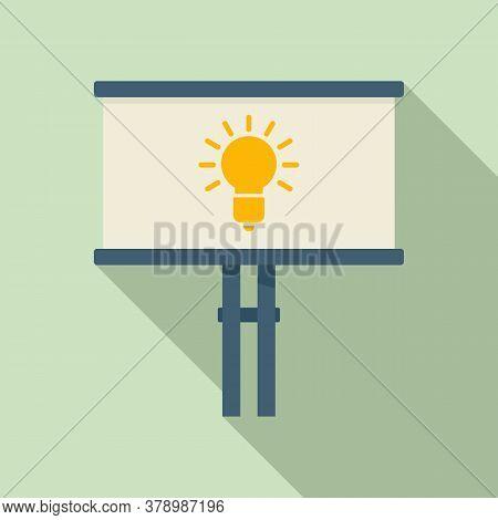 Street Billboard Innovation Icon. Flat Illustration Of Street Billboard Innovation Vector Icon For W