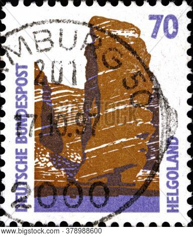 02 09 2020 Divnoe Stavropol Territory Russia The Postage Stamp Germany 1990 Sightseeings - Helgoland