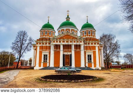 Cathedral Of The Nativity Of Christ In The Holy Cross Convent. Built In 1810. Architect Of Russia. T