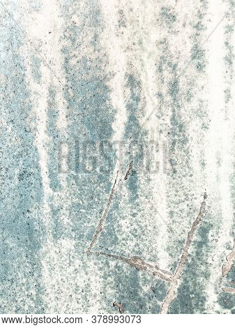 Zinc Metal Texture. Structure Corrosion Marble Drawing. Scratched White Texture. Background Zinc Met