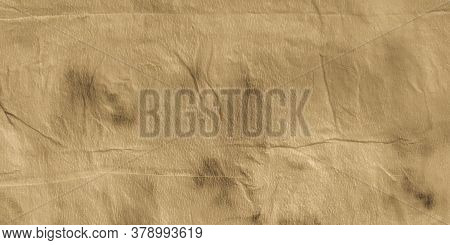 Ripped Parchment. Yellow Watercolor Art. Vintage Rough Ink Ornament. Beige Ivory. Parchment Ethnic D