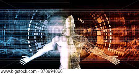 Healthcare Biotechnology Industry for Biology Technology Concept Background 3d Render