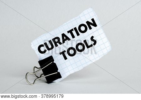 White Paper On The White Background With Text Curation Tools