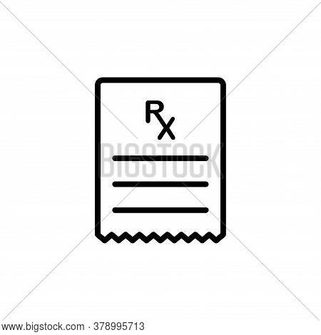 Illustration Vector Graphic Of Prescription Icon Template