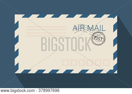 Mail Envelope For Letters And Mailing. For Congratulations And Valentines. Vector Template For Websi