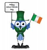Comical Happy Saint Patrick Day message isolated on white background poster