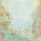 abstract light blue and beige watercolor background poster