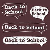 back to school, the bubble in chalk on a blackboard poster