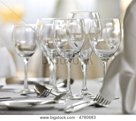 Dishware On A Table