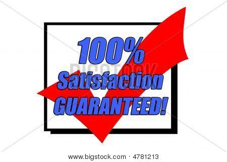 100% Satisfaction Guaranteed Concept