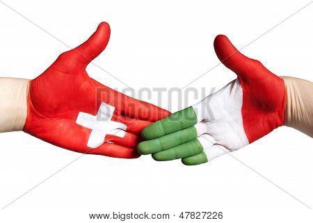 Swiss Italian Handshake