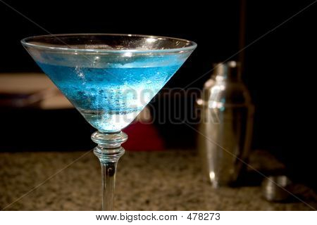 Blue Martini And Shaker