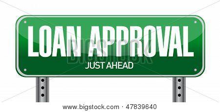 Loan Approval Road Sign Illustration