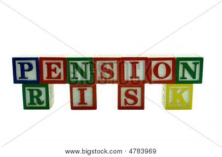 Wooden Alphabet Blocks Spelling Pension Risk