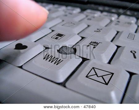 Teclado del ordenador portátil